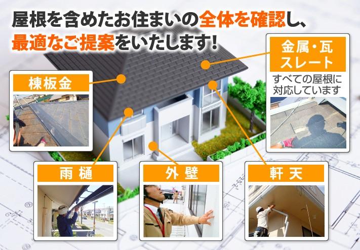 屋根を含めたお住まいの全体を確認し、最適なご提案をいたします!