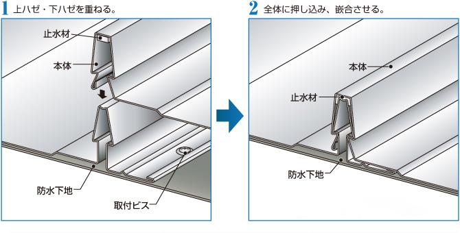 立平ロック20(セキノ興産)取付図