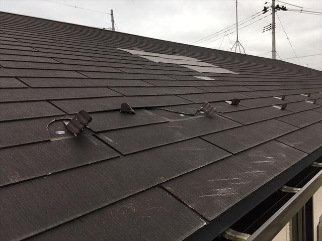台風で被害を受けたカラーベスト屋根