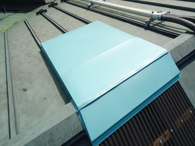 SGL鋼板加工・取り付け完了