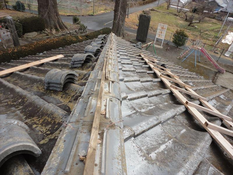 曲がった棟の解体