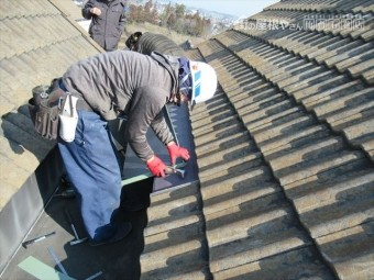 GL鋼板加工屋根取付