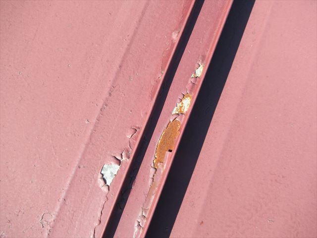 瓦棒塗膜剥がれサビ