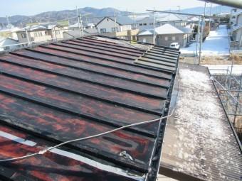 津波で浸水した瓦棒屋根