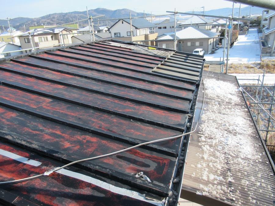 石巻市元倉│東日本大震災の津波で被災して10年経った瓦棒屋根の調査