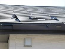 台風で被害を受けた屋根