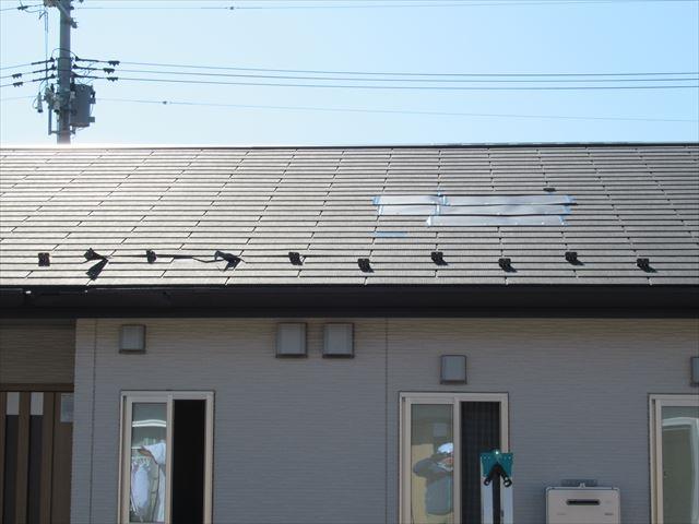 台風19号の被害を受けた屋根