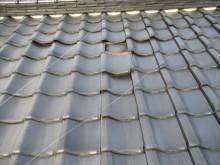 2階雨漏り箇所の屋根 瓦ズレ
