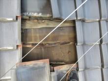 防水シート破損瓦桟腐れ