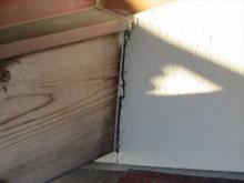 木部と外壁部コーキング劣化