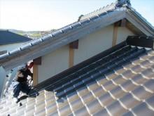 3階屋根外壁と瓦屋根