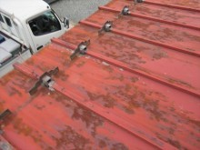 長尺瓦棒屋根サビ