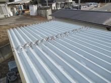 雨漏り箇所折板屋根調査