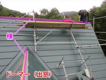 屋根の棟とはここ!