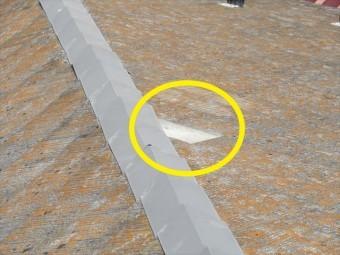 コロニアルが落下した屋根
