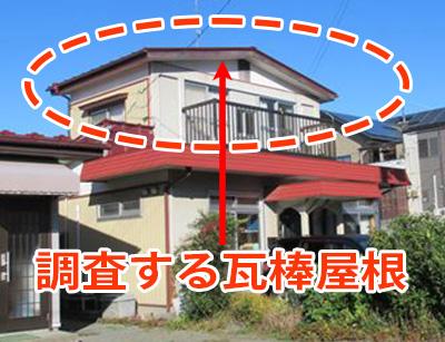 石巻市門脇町│風で屋根からバタバタ音がする…瓦棒屋根の点検・調査