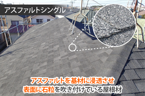ジンカリウム鋼板と見た目が似ているアスファルトシングル